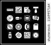 disk icon. 16 disk vector set.... | Shutterstock .eps vector #1169957164