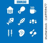 roasted icon. 9 roasted vector... | Shutterstock .eps vector #1169959477