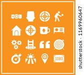 goal icon. 16 goal vector set.... | Shutterstock .eps vector #1169960647