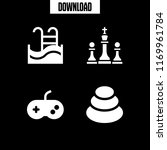 leisure icon. 4 leisure vector... | Shutterstock .eps vector #1169961784