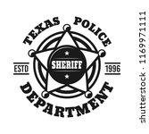 sheriff badge vector emblem... | Shutterstock .eps vector #1169971111