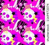 skull funky seamless rough... | Shutterstock .eps vector #1169972074