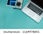 office view. notepad mock up.... | Shutterstock . vector #1169978851