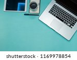 office view. notepad mock up.... | Shutterstock . vector #1169978854