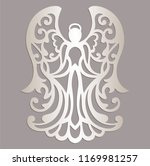 carved openwork angel... | Shutterstock .eps vector #1169981257