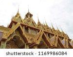 the golden castle in wat tha...   Shutterstock . vector #1169986084