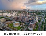 aerial view of twilight of oil... | Shutterstock . vector #1169994304