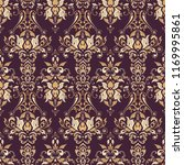 baroque floral pattern. classic ... | Shutterstock . vector #1169995861