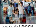 children  traveling together ... | Shutterstock . vector #1170003031