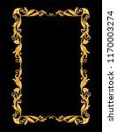 gold vintage ornament frame on...   Shutterstock .eps vector #1170003274