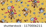 seamless floral pattern in... | Shutterstock .eps vector #1170006211