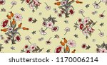seamless floral pattern in... | Shutterstock .eps vector #1170006214