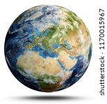 planet earth map. elements of...   Shutterstock . vector #1170015967