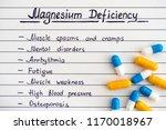 symptoms of magnesium... | Shutterstock . vector #1170018967
