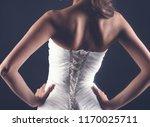 beautiful slender young woman... | Shutterstock . vector #1170025711