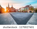 nigth view of city center of... | Shutterstock . vector #1170027601