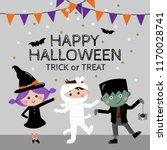 happy halloween greeting card... | Shutterstock .eps vector #1170028741
