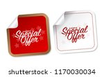 special offer stickers | Shutterstock .eps vector #1170030034