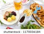 appetizing bavarian roast pork... | Shutterstock . vector #1170036184