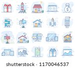 set of flat line color icons.... | Shutterstock .eps vector #1170046537