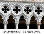 doge's palace or palazzo ducale ... | Shutterstock . vector #1170066991
