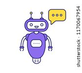 chatbot typing answer color... | Shutterstock .eps vector #1170067954