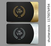 vector vip golden and platinum... | Shutterstock .eps vector #1170076954