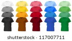 plain t shirt template. | Shutterstock .eps vector #117007711