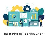 vector illustration of business ... | Shutterstock .eps vector #1170082417