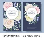 vector vintage floral round... | Shutterstock .eps vector #1170084541