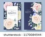vector vintage floral banners... | Shutterstock .eps vector #1170084544
