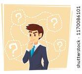 thinking businessman standing... | Shutterstock .eps vector #1170086101