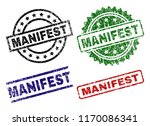 manifest seal prints with... | Shutterstock .eps vector #1170086341