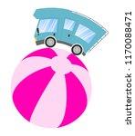caravan car confort travel on... | Shutterstock .eps vector #1170088471