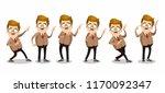 mustache man character in... | Shutterstock .eps vector #1170092347