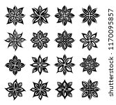 flower tattoo design vector set | Shutterstock .eps vector #1170095857