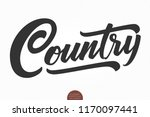 country music. vector musical... | Shutterstock .eps vector #1170097441