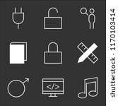 9 simple transparent vector... | Shutterstock .eps vector #1170103414