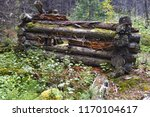 Ruins Of Old Log Cabin In...