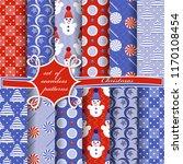 set of seamless christmas...   Shutterstock .eps vector #1170108454