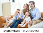 adorable family with two... | Shutterstock . vector #1170109951