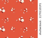 simple florals red seamless... | Shutterstock .eps vector #1170110191