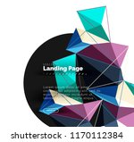 vector 3d triangle abstract... | Shutterstock .eps vector #1170112384