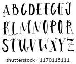 handwritten lettering vector... | Shutterstock .eps vector #1170115111