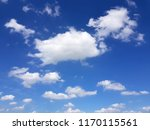 the blue sky with white clouds | Shutterstock . vector #1170115561