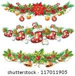 christmas garland | Shutterstock .eps vector #117011905