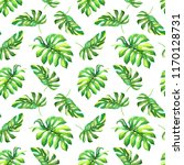 tropical watercolor seamless... | Shutterstock . vector #1170128731