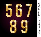 golden shining numbers with... | Shutterstock .eps vector #1170129247