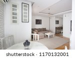 living room with kitchen... | Shutterstock . vector #1170132001