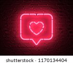 heart red pin icon red pin on a ... | Shutterstock . vector #1170134404